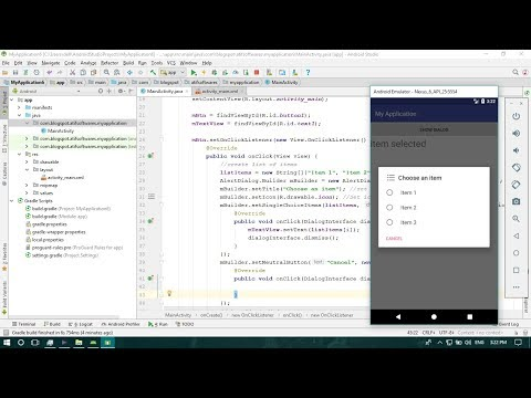 Alert Dialog Single Choice - Android Studio Tutorial