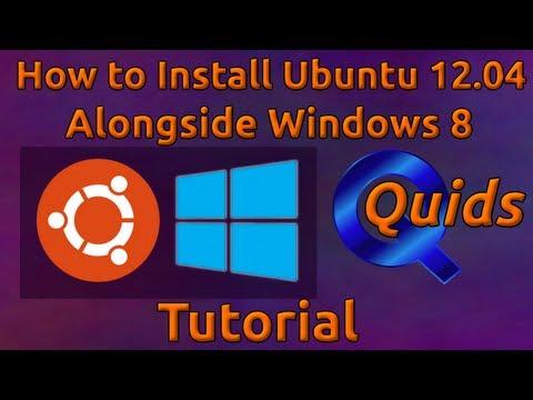 How to Install Ubuntu 12.04 to Dual boot alongside Windows 8
