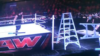 Wwe 2k15 gameplay table ladder and chairs match