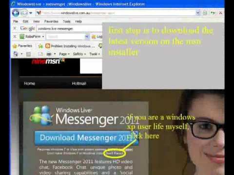 fix hr:0x80070643 messenger.msi error for xp