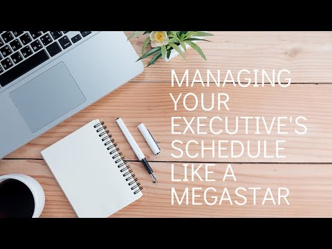 Managing your Executive's schedule like a megastar