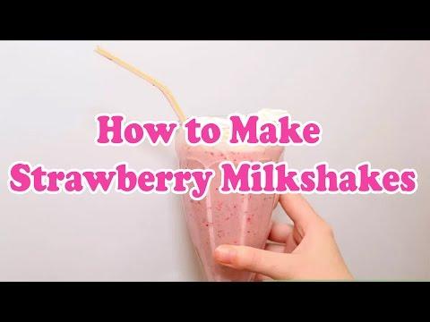 How to Make Strawberry Milkshakes | McDonald's Strawberry Milkshake Recipe!