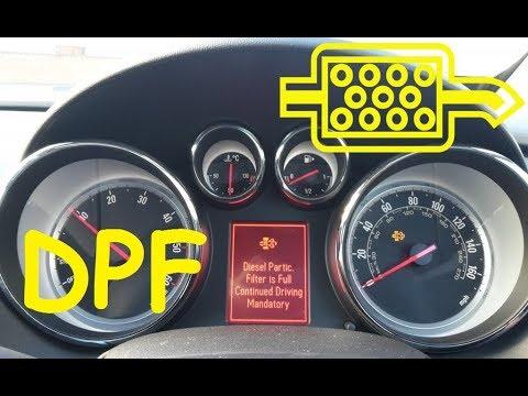 Opel Vauxhall Astra J DPF Regeneration  / DPF Light 🔥