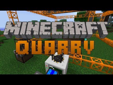 Minecraft BuildCraft Tutorial - How to Create a Quarry (BuildCraft)