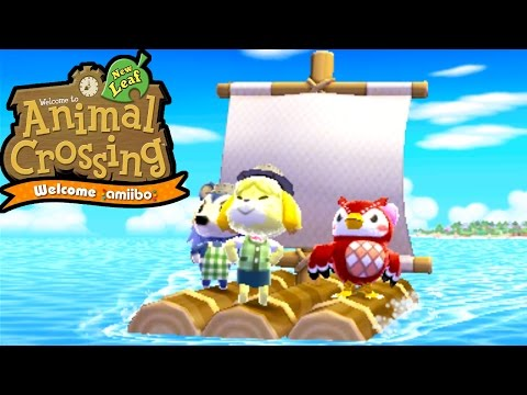 Animal Crossing New Leaf - Welcome amiibo - Desert Island Escape Isabelle - 3DS Gameplay Walkthrough
