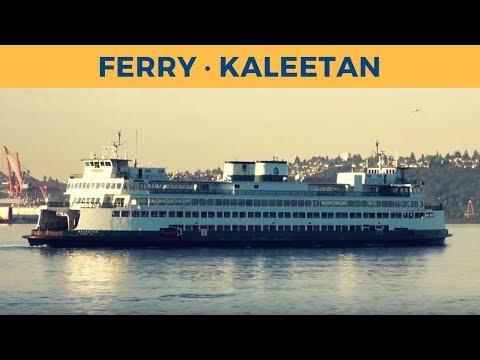 Departure of ferry KALEETAN in Seattle (Washington State Ferries)