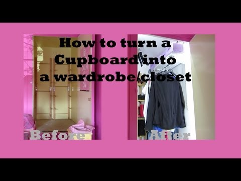 How to turn a cupboard into a wardrobe/closet