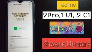 Realme C1 new update/color os 6/pie update in realme c1 - Tech ush
