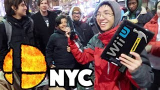 Wii U DESTRUCTION @ SMASH BROS. ULTIMATE NINTENDO NY LINE