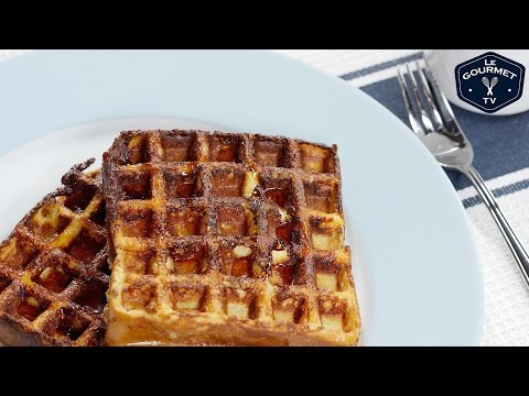 French Toast In A Waffle Maker Recipe || Le Gourmet TV Recipes
