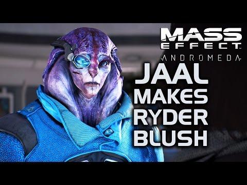 Mass Effect Andromeda - Jaal makes Ryder Blush