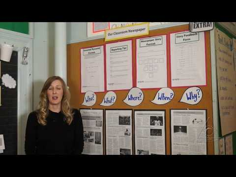 Extra! Extra! Read All About It!: Building Community with a Classroom Newspaper (Virtual Tour)