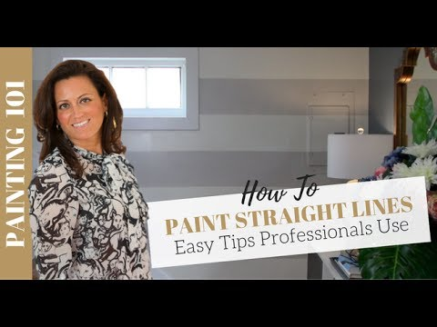 Painting 101: How to Paint Straight Lines on a Wall