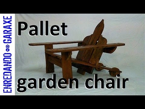 Pallet garden chair: Retouch, sand and stain