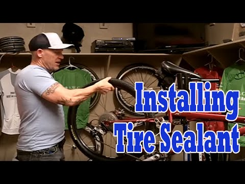 Adding Tire Sealant To Bike Tires.  How To Put Slime In Tires.