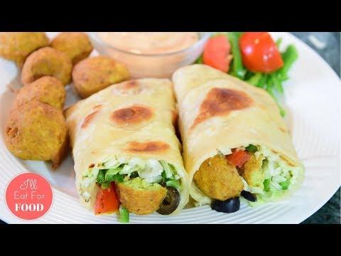 Healthy Falafel Wrap │Episode 097│ I'll Eat For Food