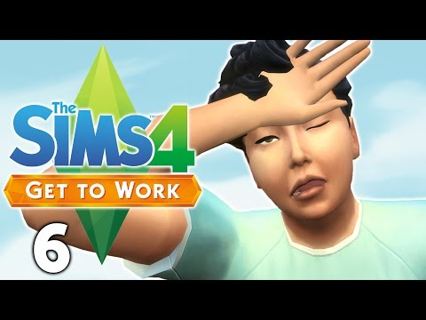 Let's Play The Sims 4 Get to Work - Part 6 - Sick Sims!