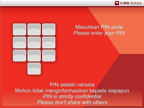 Cara Registrasi Go Mobile di ATM CIMB Niaga