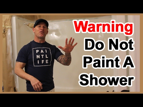 DO NOT PAINT a shower.  5 reasons to not paint tile, showers or sinks.