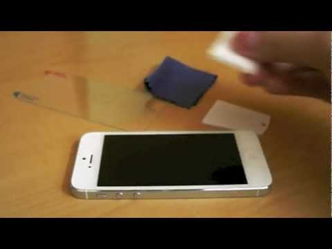 HR Tech - How to install tempered glass screen protector for Apple iPhone 5
