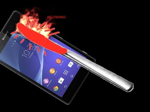 EXPERIMENT Glowing 1000 degree KNIFE VS Zony Xperia s2 (GONE WRONG)(GONE SEXUAL)