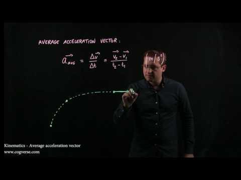 01 - Kinematics - Average acceleration vector