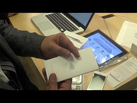 Factory Unlocked iPhone 5 Unboxing In Apple Store in US, Las Vegas Nevada