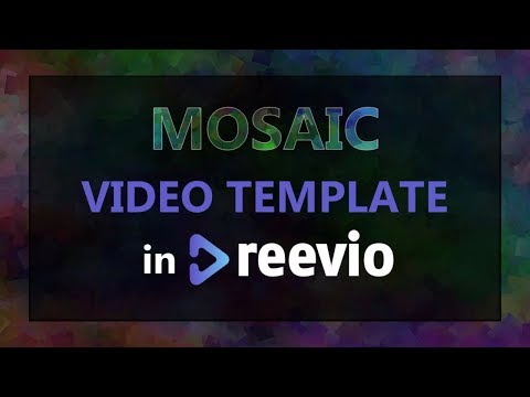 Mosaic Video Template Preview in Reevio