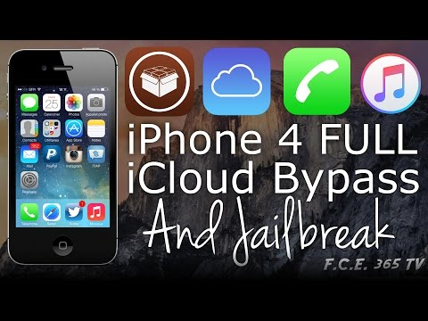 Bypass iPhone 4 iCloud Full Activation and Jailbreak Untethered and No Service Fix