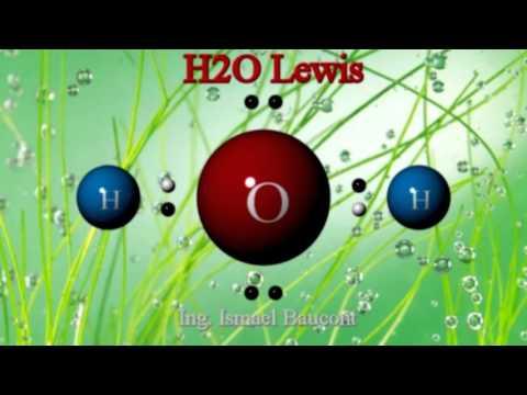 H2O Water: 3D Molecule