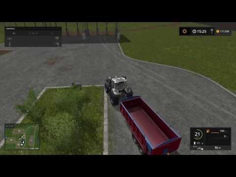 Farming Simulator 17 bulk fertilizer and seed transportation