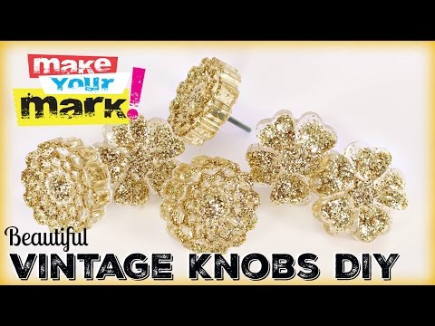 How to: Beautiful Vintage Knobs DIY With Craft Glaze Coat