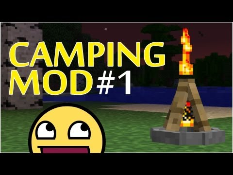 CAMPING Mod - BEST MOD EVER!! Make Campfires, Tents and MARSHMALLOWS! Part 1