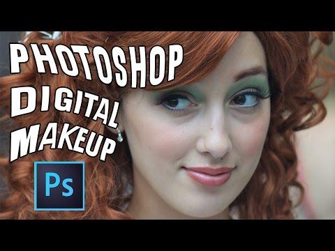 Add Digital Makeup in Photoshop Tutorial