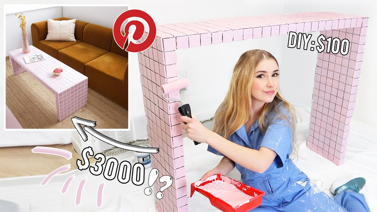 Making the VIRAL Pinterest Pink Tile Table !! *budget friendly*
