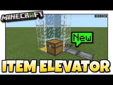 Minecraft - ITEM ELEVATOR [ Redstone Tutorial ] MCPE / Xbox / Bedrock