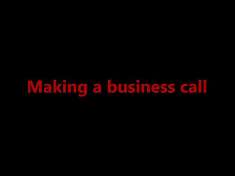Making a business call - Business communication - Telephone Skills