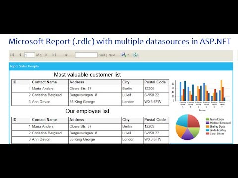 How to create Microsoft Report (.rdlc) with multiple datasources in ASP.NET.