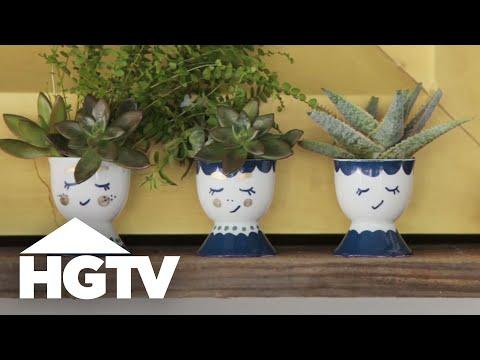 DIY Mini Face Planters - HGTV