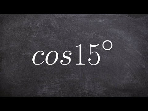 Evaluating the half angle for cosine 15 degrees