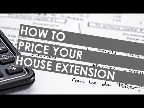 How to Price Your House Extension
