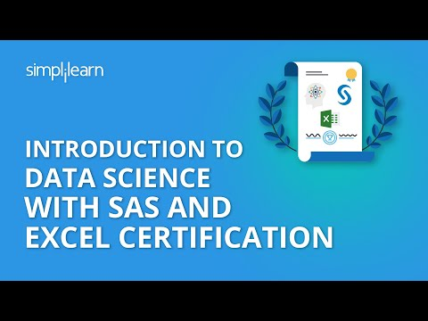 Introduction To Data Science with SAS and Excel Certification | Simplilearn