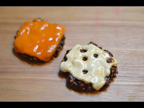 Making Fondant Hamburger Patties