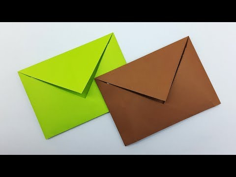 Paper Envelope easy making without Glue or Tape | DIY Crafts (Origami Envelope)