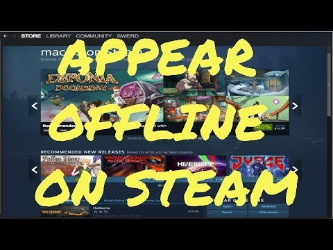 Appear OFFLINE on Steam! Offline/Busy/away/Trading Account HELP!