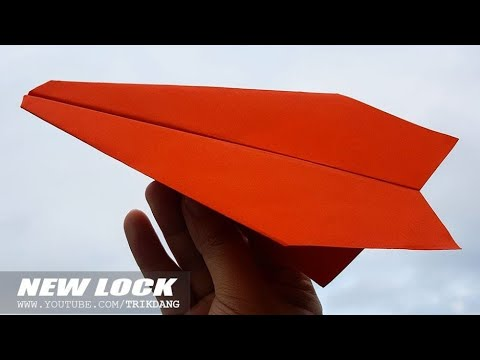 SIMPLE PAPER AIRPLANE for KIDS - How to make a Paper Airplane that FLIES FAR | New Lock (Trad.)