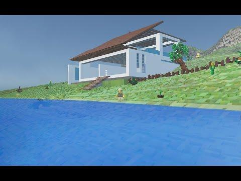 Lego Worlds - Modern Beach House - Tour
