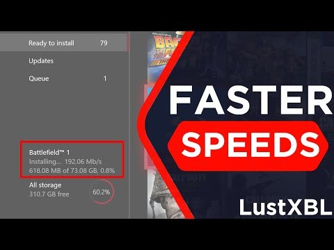 (NEW) HOW TO GET FASTER DOWNLOAD ON XBOX ONE! DOWNLOAD QUICKER!