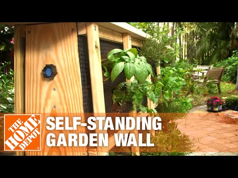 How to Build a Self-Standing Garden Wall