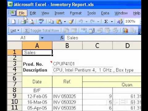 Microsoft Office Excel 2003 Set page margins for printing
